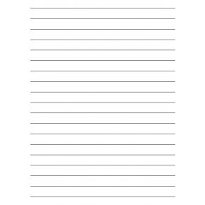 15mm Ruled Writing Paper