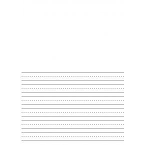 Premium Half-Ruled 8mm Handwriting Paper