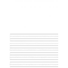 Premium Half-Ruled 10mm Handwriting Paper