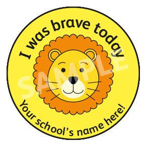 I Was Brave Today Sticker