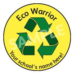 Eco Warrior Sticker.