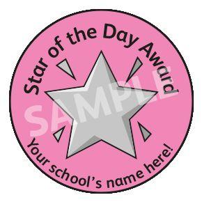 Star Of The Day Award Sticker