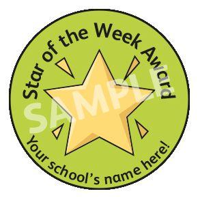 Star Of The Week Award Sticker