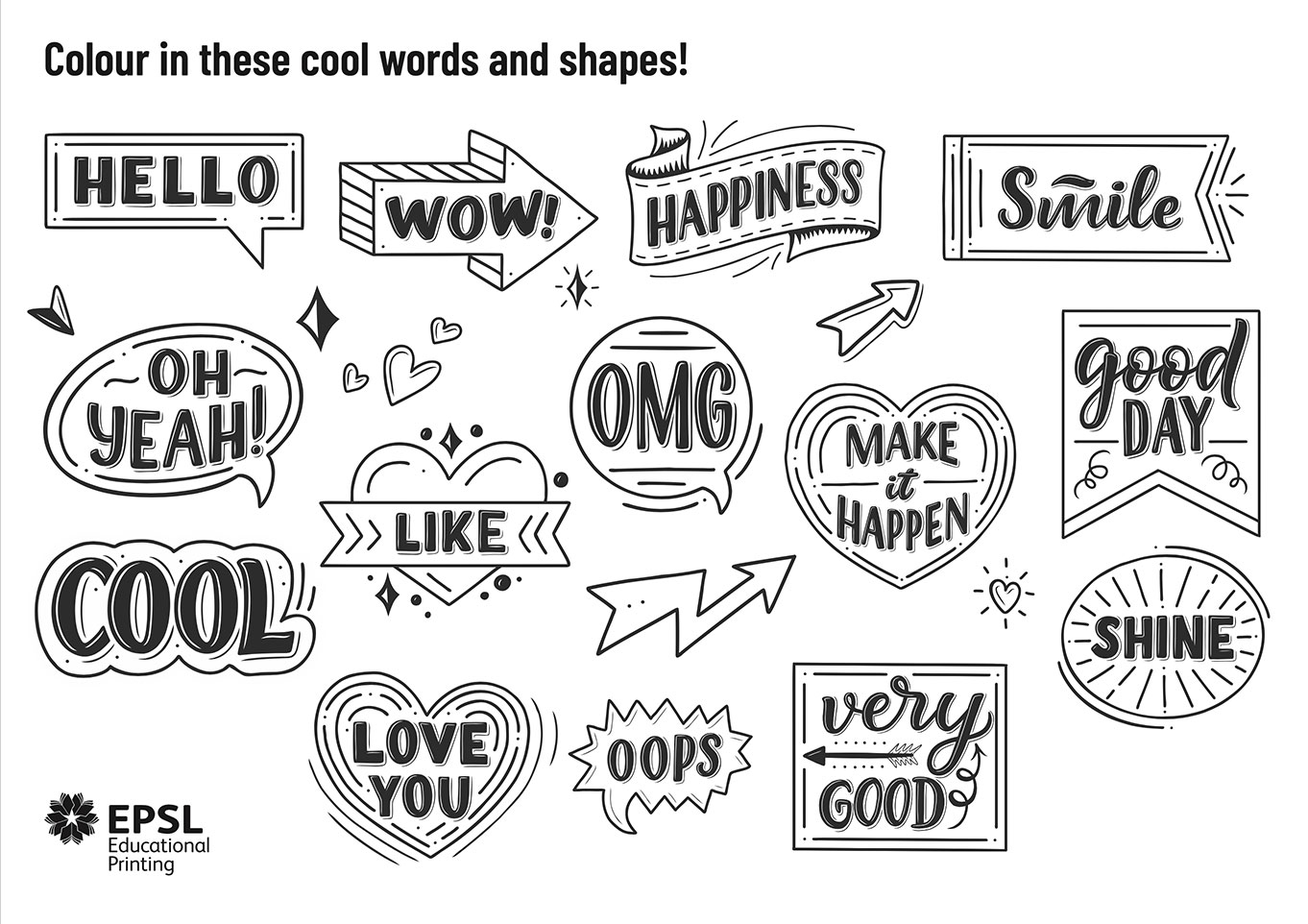 Colouring Words