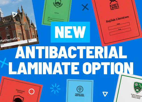NEW anti-bacterial laminate for exercise books