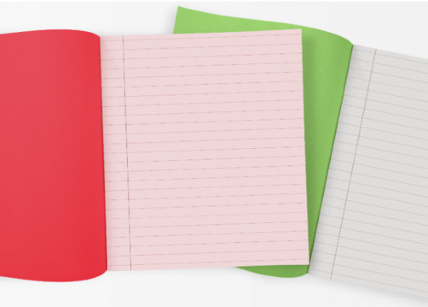 What's the difference between plain and tinted exercise books?