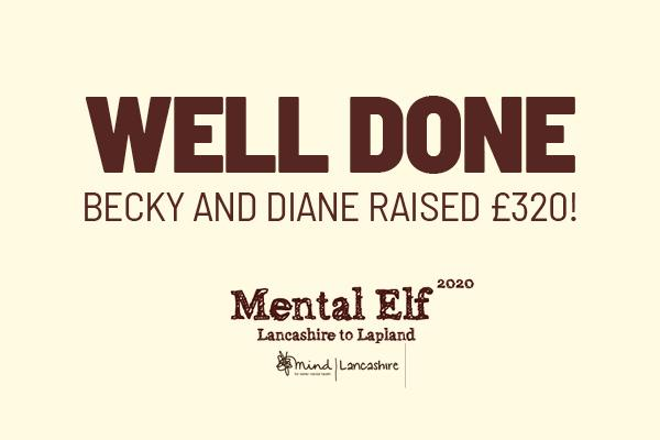 Staff raise £320 for Lancashire Mind